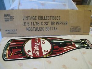 Dr Pepper Bottle Sign Stout Company NEW OLD STOCK 1/1000 MADE 2001 made in U.S.A