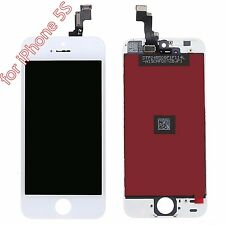 For iPhone 5s White Touch Screen Glass Digitizer LCD Screen Frame Assembly ASDF