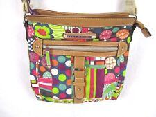 Lily Bloom Crossbody Shoulder Purse Handbag Multi-Color Floral Fabric BP5