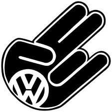 VOLKSWAGEN SHOCKER FUNNY WINDOW STICKERS VINYL DECALS JETTA GOLF GTI