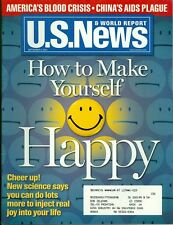 2001 U.S. News & World Report Magazine: How to Make Yourself Happy/Blood Crisis