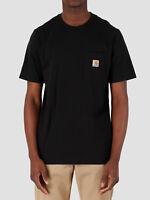 CARHARTT T Shirt Mezza Manica Uomo Casual Semplice Girocollo Con Taschino Pocket
