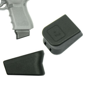 For Glock +2 Magazine Mag Extension 9mm Mag Base 17 19 22 23 26 27 33 More