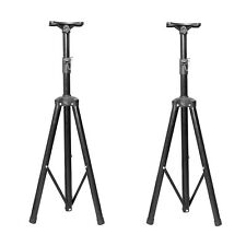 Pair Black Tripod DJ PA Speaker Stands Holder Mount Universal Adjustable Height