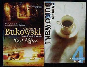 Lot of 2 Charles Bukowski books Post Office + New Poems Nook 4. Good Condition!