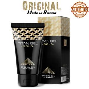 TITAN GEL GOLD ORIGINAL Intimate gel lubricant for men 50ml -Made In RUSSIA-