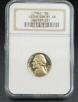 1964 P Jefferson Nickel Coin NGC PF68 UCAM DCAM Ultra Deep Cameo Gem Proof 5c