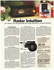 Original 1983 Escort Radar Warning Receiver Vintage Print Ad