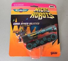 VINTAGE 1992#Micro Machines - ZBots Micro Robots Balistic Tank #MOSC CARDED