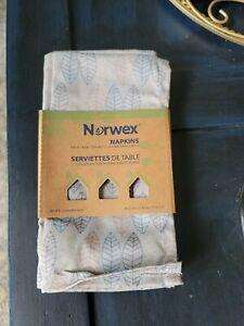 Norwex Napkins (set of 4) Leaf Pattern NEW