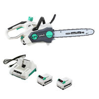 """LiTHELi 40V Cordless Brushless 14"""" Chainsaw w/ 2.5AH*2 Battery & Charger"""