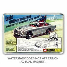 RETRO - CORGI TOYS JAMES BOND 007 ASTON MARTIN DB5  ADVERT JUMBO FRIDGE  MAGNET