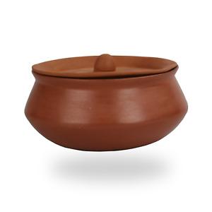 Clay Cooking Pot Karahi wok Biryani Chicken Open Fire Gas Top With Lid