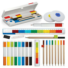 Lego Stationery Pencil Crayons Pen Case Rubber Sharpener School Accessories HQ