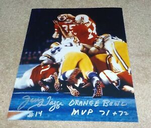 Nebraska Huskers Jerry Tagge Signed Autographed 8x10 Photo Orange Bowl MVP 71 72