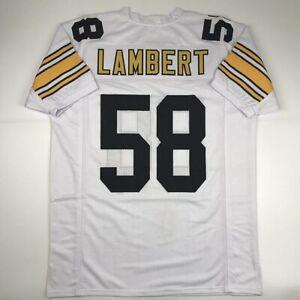 New JACK LAMBERT Pittsburgh White Custom Stitched Football Jersey Size Men's XL