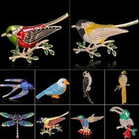 NEW Fashion Animal Bird Crystal Enamel Brooch Pin Wedding Women Costume Jewelry