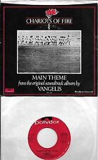 VANGELIS  Chariots Of Fire Title Theme / Eric's Theme  rare 45 with PicSleeve