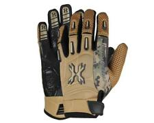 Hk Army Pro Gloves Full Finger Tan Camo paintball gloves New - Xl X-Lg X-Large