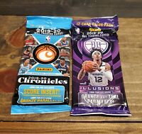 19-20 Panini NBA Chronicles Fat Pack 15-card Value Pack and Illusions Value Pack