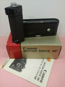 Canon Motor Drive MF Grip For F-1 Camera in box with manual #43897