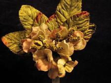 Millinery Flower Velvet Bloom Cluster Green Pink Trim for Hat Bridal + Hair Y242