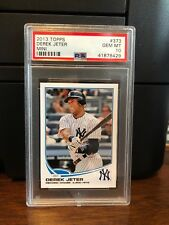 2013 Topps Mini Derek Jeter Yankees Baseball Card #373 PSA 10 Gem Mint
