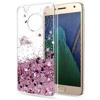 For Motorola Moto G7 Play / G7 Plus Moving Liquid Quicksand Clear TPU Case Cover