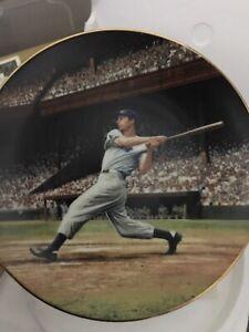 Joe DiMaggio Plate The Streak, Great Moments in Baseball, w/ COA, Bradford # 1
