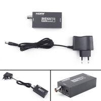 Câble coaxial BNC 3G SDI à HDMI 1080P HD vidéo convertisseur audio EU Plug Power