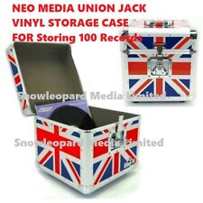 Neo 12'' Inch LP 100 Vinyl Record Aluminum Flight Case DJ Union Jack Storage Box