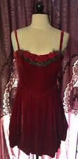 BETSEY JOHNSON Vintage Dress Silk Velvet Rose Rosette Party Dress 10 L Rare