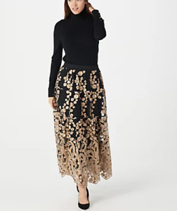 Linea by Louis Dell'Olio -  Embroidered Skirt - Latte