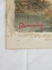 Pierre-Auguste Renoir Original Vintage Watercolour Painting Handsigned