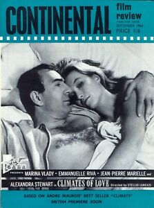 Continental Film Review magazine, September 1964. VGC. Free UK Postage.