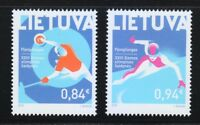 Lithuania 2018 Set of two MNH stamps XXIII Winter Olympic Games.PyeongChang **