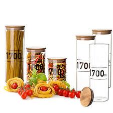 3x Vorratsgläser 1,7L mit Bambus-Deckel Aufbewahrungsgläser Behälter Glas Dosen