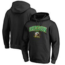 Oregon Ducks Fanatics Branded Campus Logo Pullover Hoodie - Black