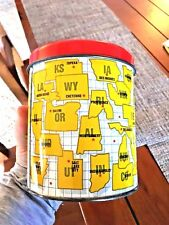 PIGGY BANK Vtg Nifty 50 States Capital Cities Tin Piggy Bank Canister