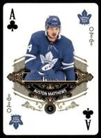 2020-21 UD O-Pee-Chee Playing Cards Aces #A-CLUBS Auston Matthews