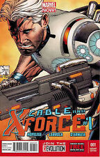 CABLE AND X-FORCE #1 MARVEL NOW QUESADA 1:100 VARIANT NEAR MINT FIRST PRINT