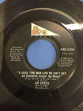"JIM CROCE ""BAD, BAD LEROY BROWN"" VINTAGE 1973 45 RPM RECORD ABC-11359"