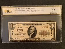 New listing 1929 $10 National Currency Marfa Texas Pcgs Vf 35 C001292A Ch #8674 $690