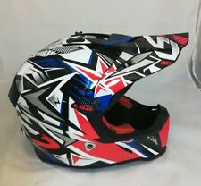 LS2 Helmet Motorcycle & Powersports Off-Road Fast V2 Strong Blue Red White XXL