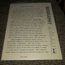 Anthrax rock band State Of Euphoria record album Press Release Kit Bio Biography