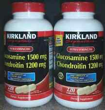 2 pack 220 ct  Kirkland Extra Strength Glucosamine HCl Chondroitin 440 total