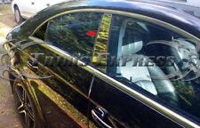 2011-2018 Mercedes CLS Sedan W218 2Pc Chrome Pillar Post Trim Stainless Steel
