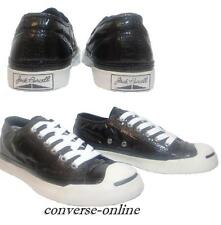 RARE! Womens CONVERSE All Star JACK PURCELL BLACK SHINY Trainers Shoes SIZE UK 5