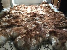 Fur Cover Real Fur Lambskin Throw Sheepskin Cover Fireplace Fur Flamed Fur 6