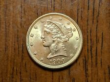 1900 5 Five Dollar Gold Liberty Head Coin. Great condition. Ungraded